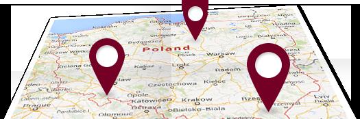 mapa wizyt studyjnych