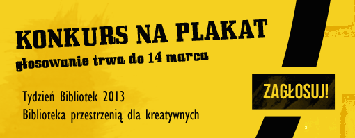 Plakat Tygodnia Bibliotek 2013
